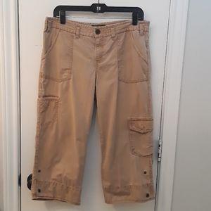Eddie Bauer Tan Colir, Crop Cargo Pants